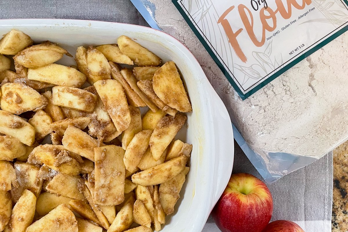 Apple Cobbler Recipe with Streusel Topping