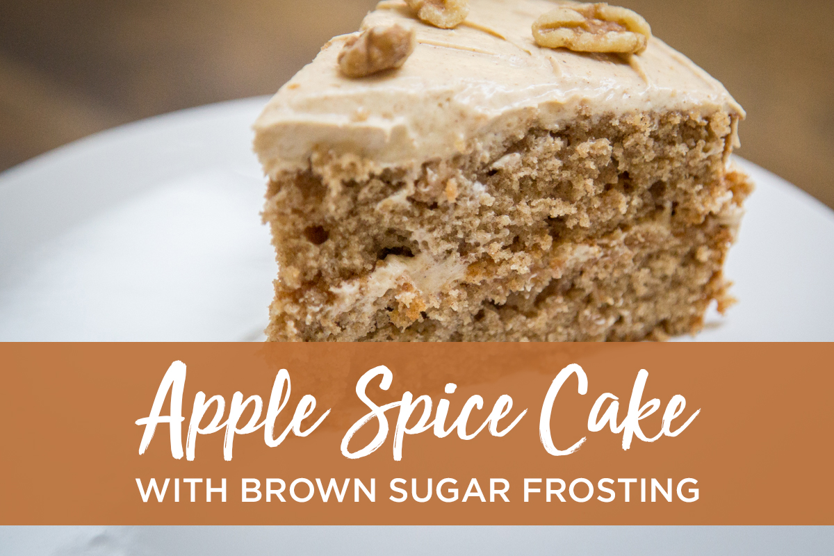 Apple spice cake with brown sugar frosting recipe